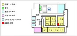 米原オフィス区画配置図