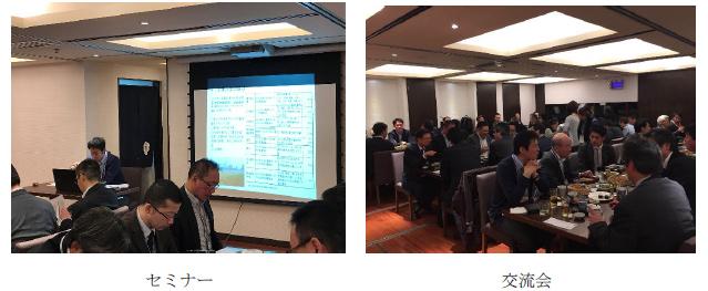 しがぎん上海セミナーと交流会の写真