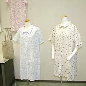 滋賀小紋柄のワンピースやシャツの写真