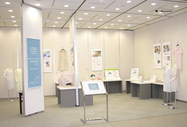 「滋賀小紋」柄の仲間たちの展示全体写真