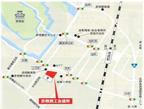 彦根商工会議所の地図画像