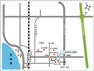 長浜商工会議所の地図画像
