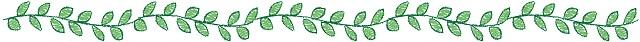 葉のイラスト飾り線