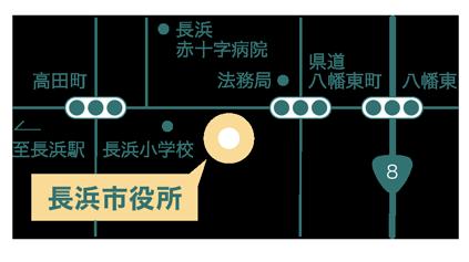 長浜市役所の地図画像