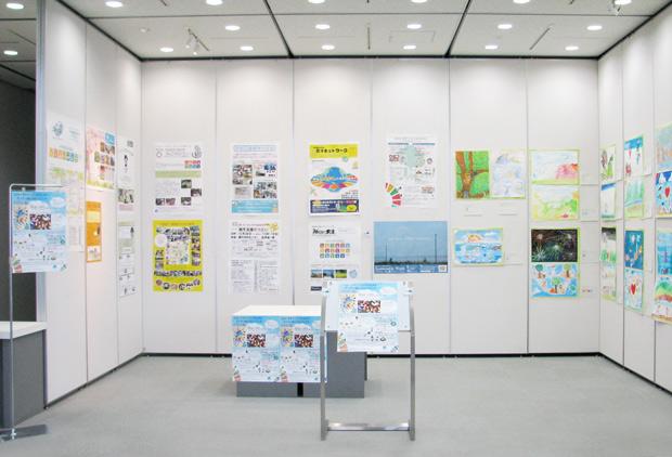「SDGsポスター」展の展示会全体写真