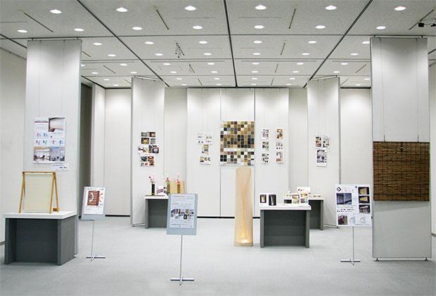 「想像を創造する力 ~天然素材や新素材に伝統技術と新たな技術を融合させたインテリア商品~」展の展示会全体写真
