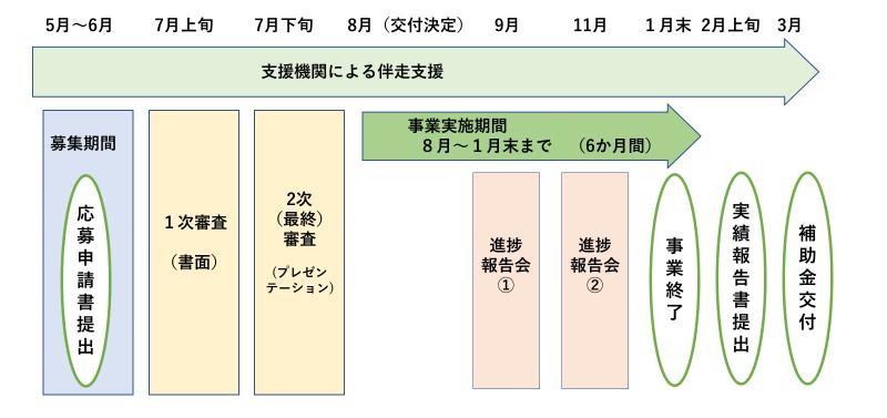 補助事業のスケジュール