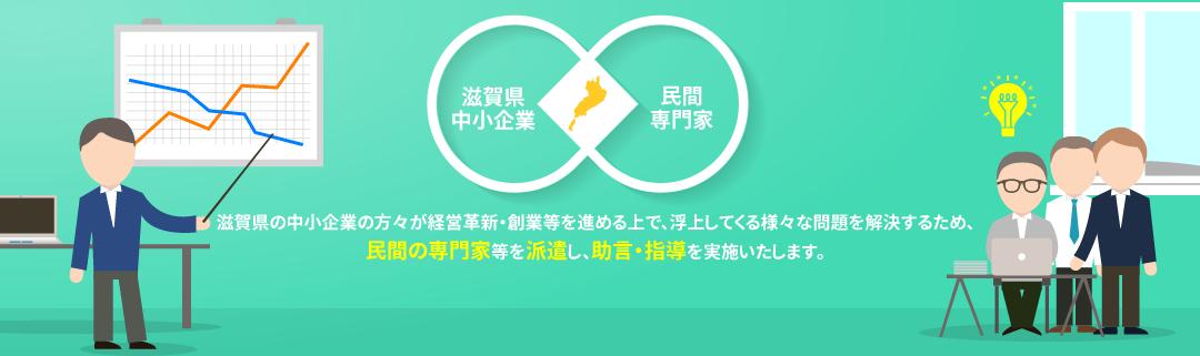 滋賀県の中小企業の方々が経営革新・創業等を進める上で、浮上してくる様々な問題を解決するため、民間の専門家等を派遣し、診断・助言を実施いたします。