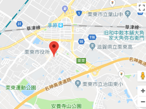 栗東市役所の地図画像
